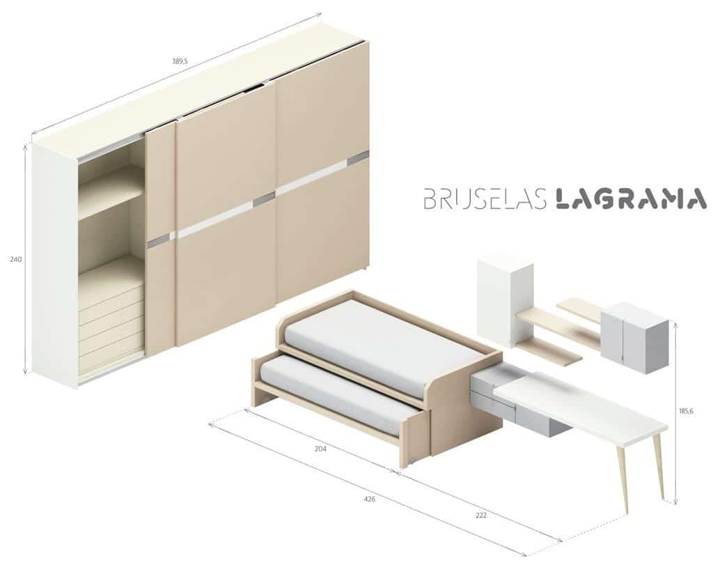 Medidas-muebles-juveniles-Bruselas